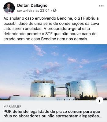 PGR pede desculpas no STF por declarações da força-tarefa da Lava Jato; ouça subprocurador